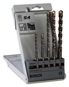 Набор из 5 буров Bosch S4 SDS-Plus, 5-6-6-8-10