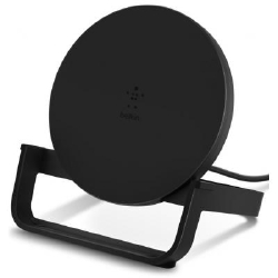 Переходник Belkin Stand Wireless Charging Qi, 10W, black (WIB001VFBK)