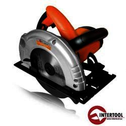 Ручная циркулярная дисковая пила Intertool Storm WT-0614, 1200 Вт, 185x20x2.5 мм, 4500 об/мин, рез 63/38 мм